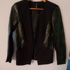H&M Faux Leather Black Jacket - 6